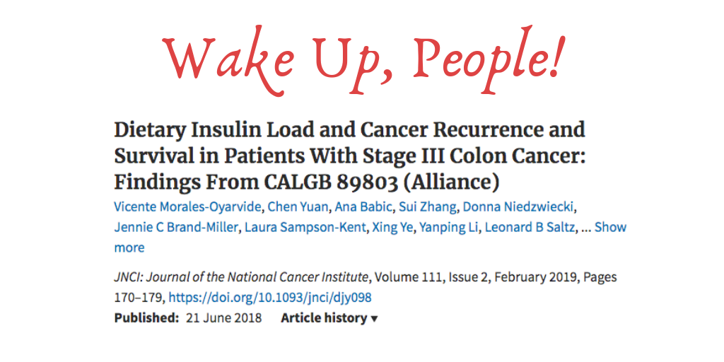 "When most people hear the word ""insulin"" they immediately think about Diabetes.  But what they miss is how important insulin sensitivity is in the big picture of cancer occurrence and recurrence."